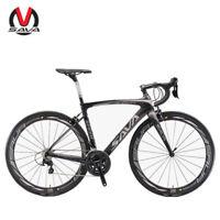 SAVA HERD New 6.0 700C Carbon Fiber Road Bike Shimano 5800 22 Speed Black Grey
