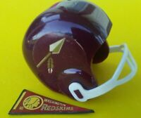 1967 NFL Washington REDSKINS Vintage mini gumball football helmet Tudor PENNANT