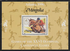 Mongolia 5562 - 1996 OLYMPICS - SHOW JUMPING  DELUXE SHEET unmounted mint