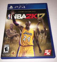 PS4 NBA BASKETBALL 2K17 2017 KOBE BRYANT LEGEND GOLD EDITION CASE & GAME ONLY 1C