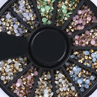 2.5mm Colorful Sharp Bottom Rhinestones 3D Nail Art Decoration Opal Nails Tips