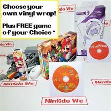Nintendo Wii console Customised starter bundle w/ Mario +Sonic Olympic +Warranty