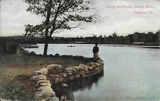 Along the Shore, Rocky Glen, Scranton PA vintage used 1908 Factoryville postmark