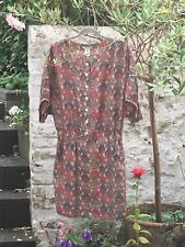 PAUL & JOE SISTER France Silk Dress Paisley Pink Blue 38