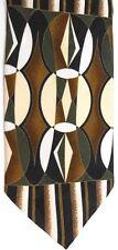 "Bachrach Men's Silk Tie 59.5"" X 4"" Multi-Color Abstract Geometric"