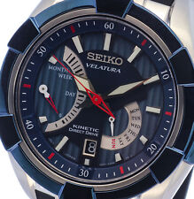 NEW MEN'S SEIKO VELATURA KINETIC 100M DIRECT DRIVE SAPPHIRE SRH017P2