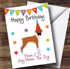 To From Dog Boxer Personalised Birthday Card