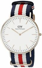 Daniel Wellington Men's Canterbury 0102DW Multi Nylon Quartz Watch