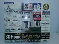 BRODERBUND 3D HOME DESIGN SUITE DELUXE VERSION  3.0, CD-ROM 95/98
