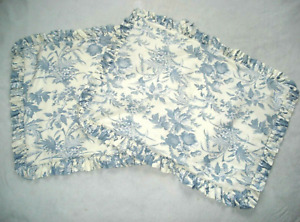 WILLIAMSBURG Floral PIPPED Ruffled COUNTRY CURTAINS Standard QUILED PILLOW SHAM