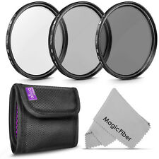 58MM Lens Filter Kit (UV CPL ND4) for Canon EOS Rebel T7i T6i T6 T5i T5 T4i T3i