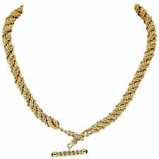 Tiffany & Co. Schlumberger Emerald and 18K Gold Twisted Rope Necklace