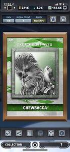 chewbacca and porge bronze gild 3cc portraits digital star wars card