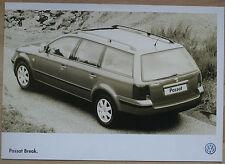 Rare Catalogue Volkswagen Passat Break - France - Septembre 1998 - 8p