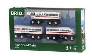 33748 Brio High Speed Train.  Wooden railway engine & carriages with sound