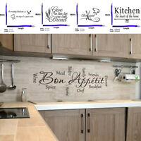 Quote Mural Words Art Vinyl Wall Sticker Home Kitchen Room Decal Decoration DIY