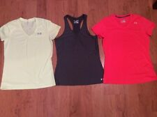 Under Armour T Shirt Women's Lot Of Three Yellow Orange Gray Size M
