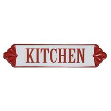 New Retro Diner Vintage Antique Style RED KITCHEN ENAMEL Plaque Sign