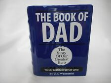 "NEW ""Book of Dad"" Ceramic Container"