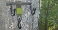 HME Tree Stand Accessory Hanger Tan Webbing Strap Two Large Hooks HME-HAH