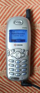 Kyocera 2325 Silver Verizon Candy Bar Cell Phone WORKS! Includes Car Charger