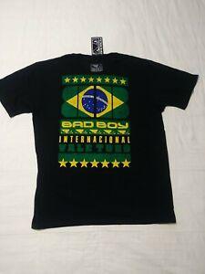 NEW! Bad Boy Badboy MMA Mixed Vale Tudo Men's T Shirt - Black - Sz L