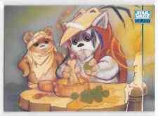 1995 Star Wars Galaxy Series 3 Base Card Wicket Logray Ewoks Base Card #299