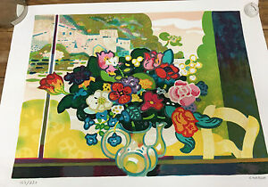 Guy Charon Large Bouquet Flowers Limited Edition LE Lithograph Signed 147/250