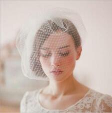 Wedding Headdress Bridal Net Birdcage Face Veil Fascinator Hair Comb Costume