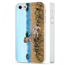 Leopard WHITE PHONE CASE COVER fits iPHONE