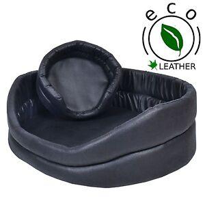 ECO – FAUX LEATHER RING DOG BEDS. Nice Nest Type Animal Bed, 6 sizes Pet Nest