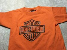 Harley Davidson Museum Tee Shirt Youth Xs. Brown Great Condition.