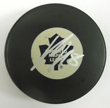 MIKE KOMISAREK SIGNED TORONTO MAPLE LEAFS HOCKEY PUCK 1000415