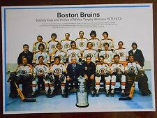 71-72 BOSTON BRUINS STANLEY CUP CHAMPS TEAM PHOTO