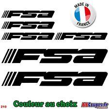 6 Stickers FSA - Autocollants Adhésifs Cadre Velo Bike Selle - 210