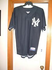New York Yankees jersey L Majestic Cool Base Black One-Button Pullover MLB