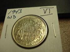 1943 WD - Canada - Silver 50 cents - Circulated half dollar -