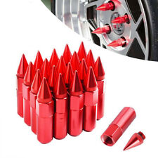 20pcs Red Aluminum Spike Tuner Extended Lug Nuts For Toyota M12X1.5 Wheels Rims