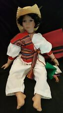 """Large Hispanic Mexican Porcelain Doll 30"""" World Gallery Collection Pepito"""