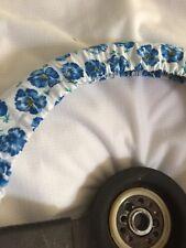 Blue Poppy Flowers Steering Wheel Cover