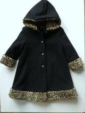 Girl's Rothschild Black Dress Wool Toddler Sz 4T Coat Faux Fur