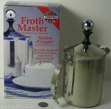 Norpro Froth Master Stainless Steel 18/10 Cappuccino Cafe Latte Milk Frother 86
