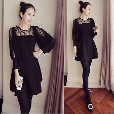 Summer Korean Fashion Women Lace Evening Party Tunic A Line Slim Short Dress 3XL