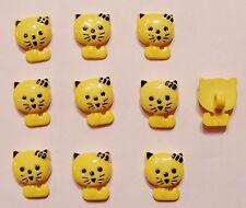 10  CAT  SHAPE BUTTONS  Yellow