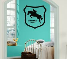 Wall Stickers Vinyl Decal Horse Rider Racing Equestrian Sport ig231