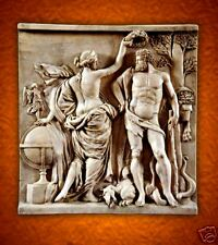 Venus &Hercules wall plaque stone tile releif sculpture backsplash home decor