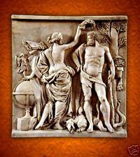 Venus Aphrodite Hercules Heracles stone wall relief plaque home garden  decor