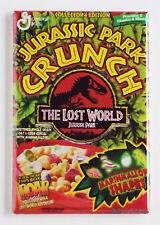 Jurassic Park Crunch FRIDGE MAGNET (2 x 3 inches) cereal box crichton dinosaurs