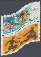 STAMP / TIMBRE FRANCE NEUF N° P3686 ** EN PAIRE / JEUX OLYMPIQUES ATHENES GRECE