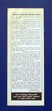 A770-Advertising Pubblicità-1964-ALCUNE RISPOSTE DEL Dr. NICO